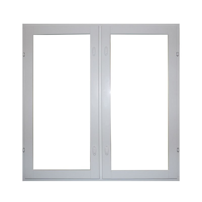 Sivusaranoitu puualumiini-ikkuna 2-aukkoinen Valkoinen