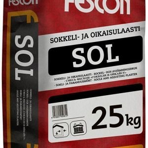 Sokkeli- ja oikaisulaasti Fescon SOL 25 kg säkki