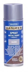 Spraymaali 400ml Hammer Sileä Hopea Maston
