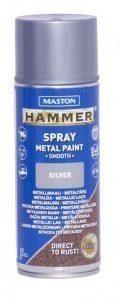 Spraymaali 400ml Hammer Sileä Hopea Maston