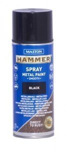 Spraymaali 400ml Hammer Sileä Musta Maston