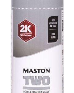 Spraymaali Two 2k Harmaa Alumiini Ral9007 400ml Maston