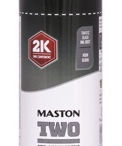 Spraymaali Two 2k Liikennemusta Ral9017 400ml Maston