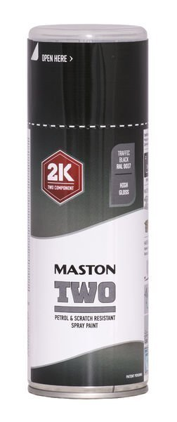 Spraymaali Two 2k Liikennemusta Ral9017 400ml Maston