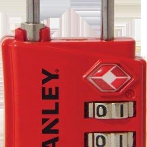 Stanley Travelmax S742-055 Matkalaukun Lukko Punainen