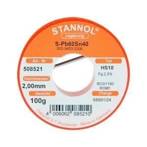 Stannol Juotoslanka 100 G / 2 Mm