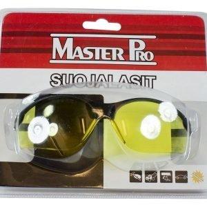 Suojalasit Musta/Keltainen Master Pro