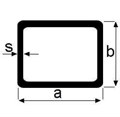 Suorakaideputki haponkestävä 100x50x4 mm 1.4751 kevyesti harjattu pituus 6 m