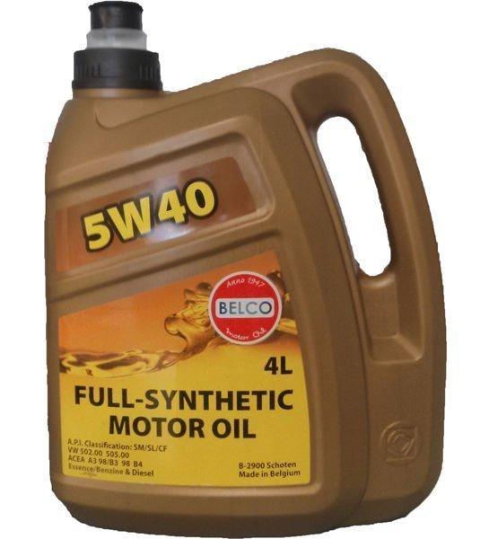 Täyssynteettinen Moottoriöljy Belco Sae 5w40 4l
