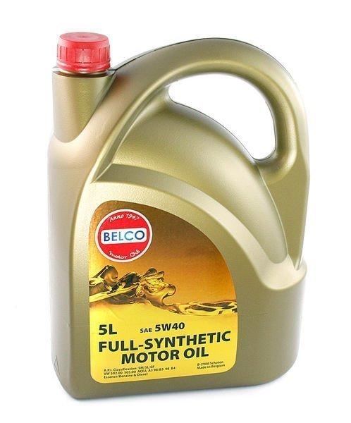 Täyssynteettinen Moottoriöljy Belco Sae 5w40 5l