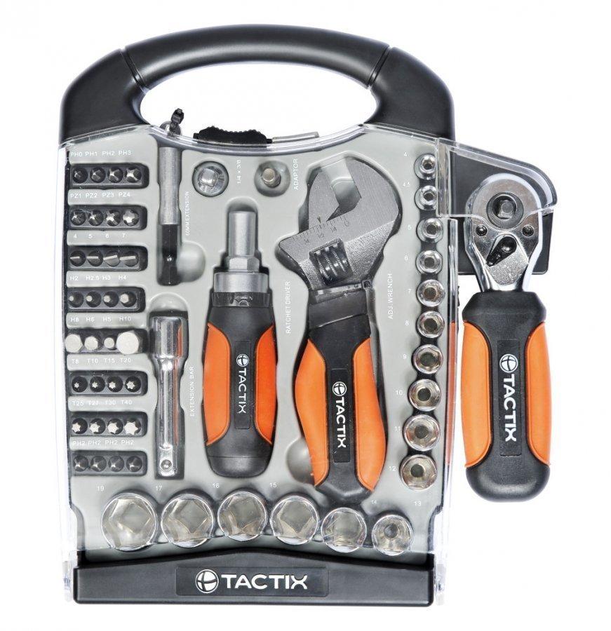 Tactix Miniräikkäsarja + Jakoavain 55 Osaa