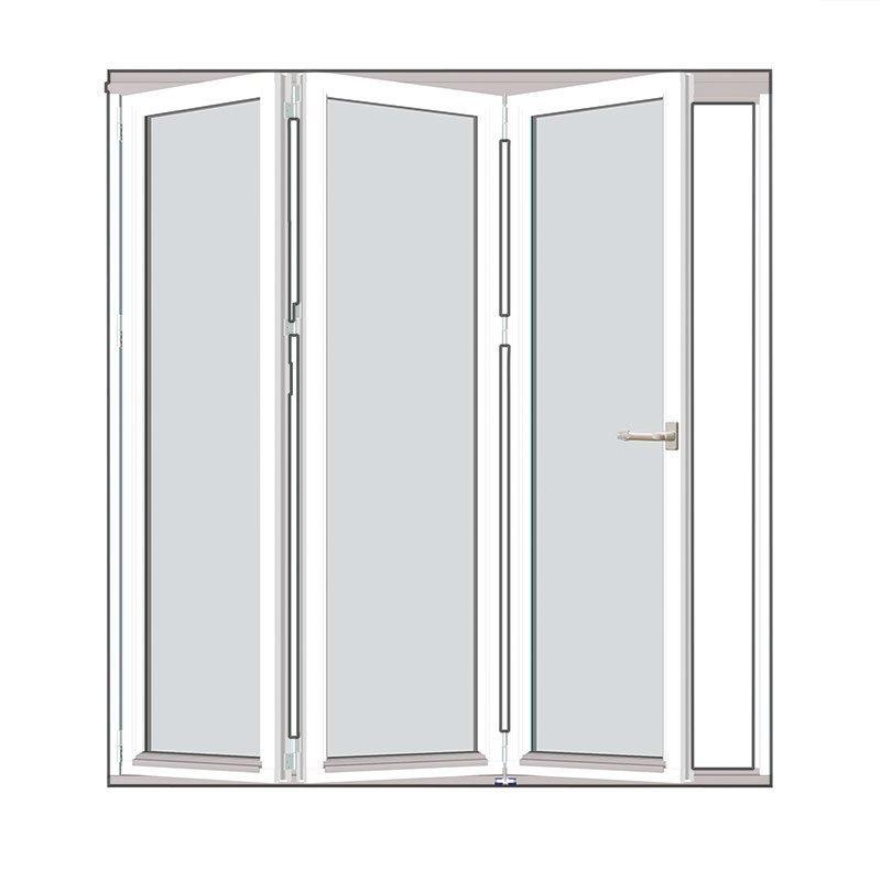 Taitettava ovi Natur V alumiini Valkoinen