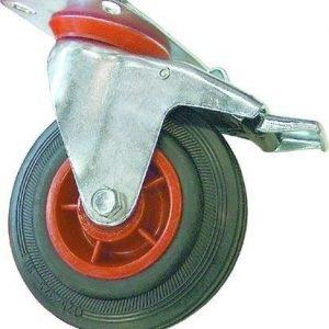 Teollisuuspyörä / Kalustepyörä Kääntyvä 250mm Jarrulla