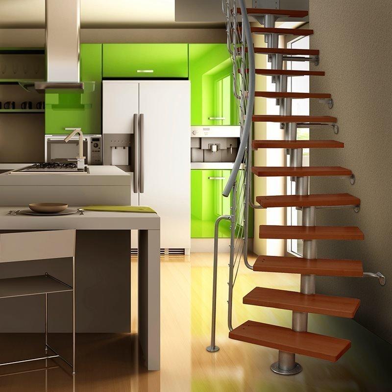 Tilaa säästävät portaat Dixi Plus