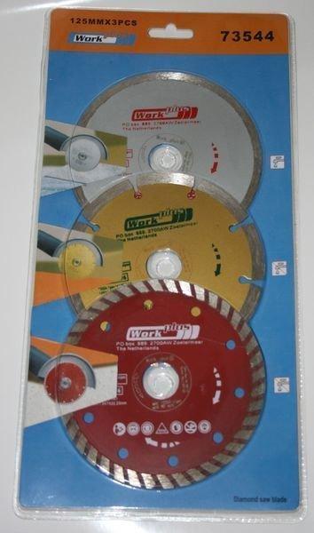 Timanttilaikkasarja 125mm 3kpl Work+