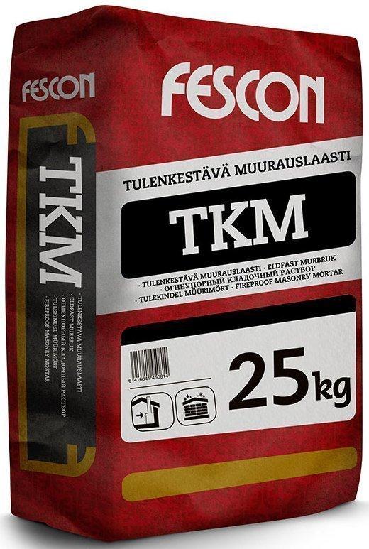 Tulenkestävä muurauslaasti Fescon TKM 25 kg säkki