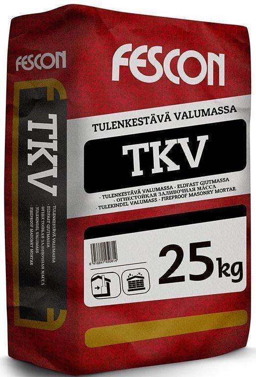 Tulenkestävä valumassa Fescon TKV 25 kg säkki