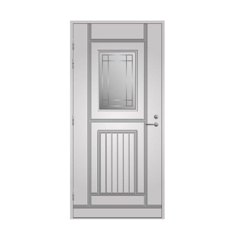 Ulko-ovi 118 Pihla Valkoinen