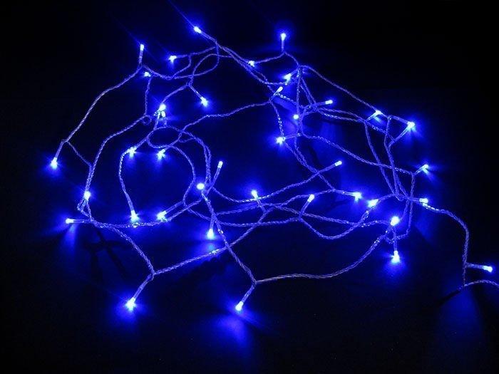Valosarja 40 Led Sininen Sisä- Ja Ulkokäyttöön Jääkristalli