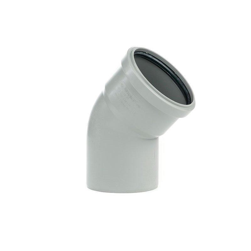 Viemärin kulma 45°/110mm Harmaa