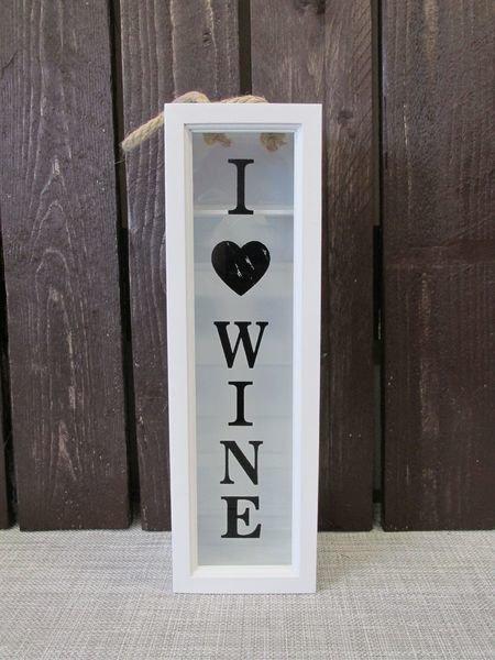Viinilaatikko 34.5x10.5x9.5cm I Love Wine