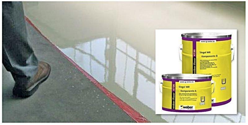 weber.floor 4736 Epoksipinnoite RAL 7001 10 kg