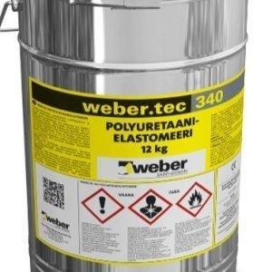 weber.tec 340 Polyuretaanielastomeeri RAL 7032 12 kg