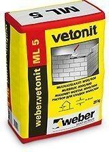 weber.vetonit ML 5 Muurauslaasti M100/600 25 kg